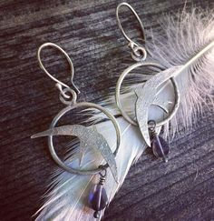 "30 Likes, 1 Comments - Mina Polen (@minapolen) on Instagram: ""Be the wind. Swifts. Sterling silver and iolite. Swifts can fly for days nonstop and can fly for…"""