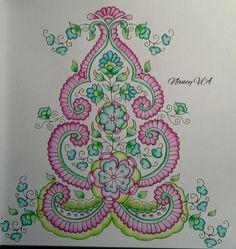 From Masja's Mijn wondere wereld . Used Derwent Inktense Derwent Inktense, Den, Holland, Coloring Books, Paisley, Mandala, Symbols, Peace, Cards