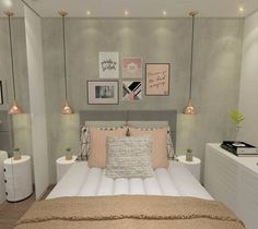 45 Ideas bedroom decoration lights small rooms for 2019 Room, Room Design, Home Decor, Bedroom Inspirations, Bedroom Lamps Design, Modern Bedroom, Small Bedroom, Bedroom Decor, Trendy Bedroom