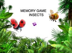 INTERACTIVES GAMES -  Emma's Place Bug Activities, Memory Games, Bugs, Character, Beetles, Lettering, Insects