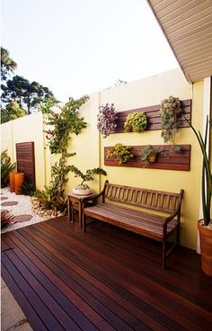 64 Ideas For Exterior De Casas Patios Outdoor Rooms, Outdoor Living, Outdoor Decor, Rustic Outdoor, Outdoor Trees, Backyard Patio, Backyard Landscaping, Patio Wall, Pergola Patio