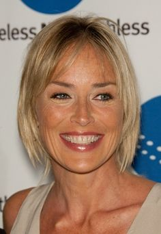 Sharon Stone-Contemporary Bobs for Women Over 40 l www.sophisticatedallure.com