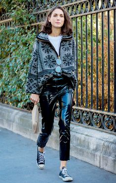 How to Dress Up Sneakers for the Holidays via @WhoWhatWear