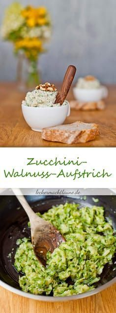 Zucchini und Walnuss Aufstric - Salat Every Thing Health Healthy Muffin Recipes, Healthy Muffins, Clean Eating Recipes, Vegetarian Recipes, Sandwich Vegan, Sandwich Recipes, Southern Recipes, Salad Recipes, Drink Recipes