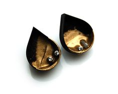 Dipped Studded Teardrop Earrings by katiepoterala on Etsy
