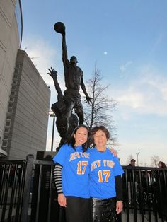 Sue Chen and her mom in Chicago before a Bulls game.