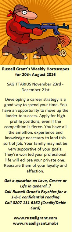 russell grant horoscopes sagittarius weekly