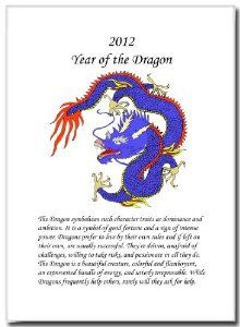 """5x7 Year of the Dragon Print with Symbolic Values 2012 (Blue) by Oriental Design Gallery Prints. $12.95. Each print is hand mounted on acid-free mat board by using an acid free adhesive.. Made in USA.. Ready for framing.. 5"""" x 7"""". High resolution prints on high quality glossy paper. This is a traditional Chinese Dragon Print and includes the Symbolic Values of the Dragon in Chinese Astrology. These prints are created by using the finest digital printer using photo ink to prev..."""