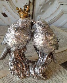 Sterling silver love birds