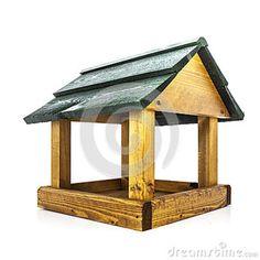 wood bird feeder plans | Wooden Bird Feeder Stock Images - Image: 29646424