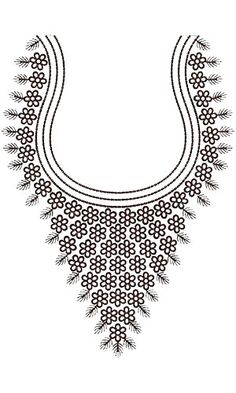 Traditional Neck Embroidery Design 15761
