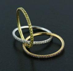White Diamond, Yellow Diamond, Pink Diamond, 18K Rose Gold and 18K Yellow Gold Ring by James de Givenchy #Taffin #JamesdeGivenchy #Ring