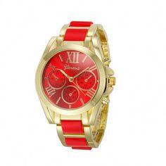 3f9734da56c Geneva Roman Numeral Gold Fashion Unisex New Round Wristwatches Women  Watch…  bestbrands Gold Watches