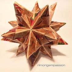 Bascetta star made out of waxed wrapping paper.