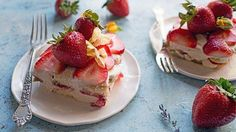 Summer means strawberries, which go great with tiramisu—especially when they're soaked in rum!