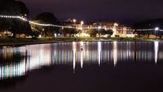 Southsea Canoe Lake at night
