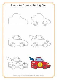 Learn to Draw a Racing Car