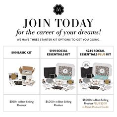 We have three Starter Kit options to get you going.  Each includes all of the tools, training, and supplies you need to succeed. Visit https://www.mymagnoliaandvine.com/JOYSJEWELS4U/content/become_independent.aspx today!