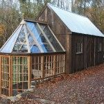 This Tiny Barn & Greenhouse Would Make a Fine Tiny House