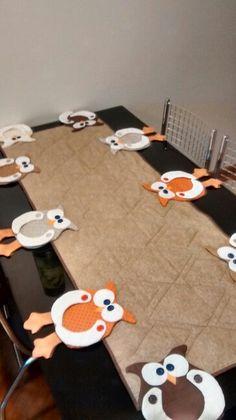 Trilho de mesa de coruja