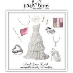 Park Lane Bride, created by parklanejewelry on Polyvore Park Lane Jewelry featured: Happiness necklace, earrings & bracelet, I Do necklace & ring, and Captivate ring