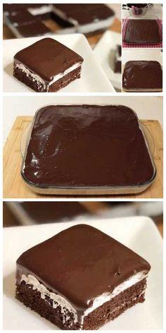 Cake Recipes Easy Chocolate Baking - New ideas Banana Dessert Recipes, Easy Cookie Recipes, Mini Desserts, Easy Desserts, Cake Recipes, Dessert Food, Sweet Recipes, Easy Vanilla Cake Recipe, Chocolate Cake Recipe Easy
