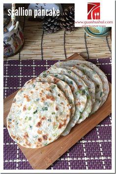 Chinese Scallion Pancake (葱油饼)    #guaishushu #kenneth_goh    #葱油饼
