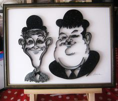 Laurel and Hardy - by: Nacia Hadji-The World of Quilling