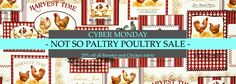 www.brickhousefabrics.com Cyber Monday : NOT SO PALTRY POULTRY SALE! 25% off All Rooster and Chicken Fabric! We've even included the glorified chicken, the Peacock, in this sale! Ends Midnight Tonight! Must use Coupon Code: Poultry25 at checkout at #chicken #rooster #peacock #fabric #sale #discount #toile #upholstery #sewing #homedec #homedecor #decorating #diy