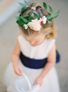 We could eat this little flower girl right up! http://www.stylemepretty.com/california-weddings/santa-fe-ca/2015/08/27/romantic-spring-wedding-at-rancho-santa-fe-golf-club/   Photography: Joshua Aull - http://www.joshuaaull.com/
