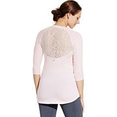 CALIA by Carrie Underwood Women's Lace Back Three-Quarter Shirt | CALIA Studio