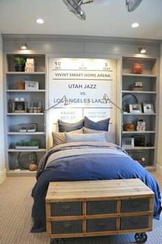 Find our best tips when it comes to creative kids bedroom decorating ideas and tricks. Whether looking for nursery or teen bedroom decor ideas, we've got lots of ideas to inspire you and help creative a fun space that your child will love. Boys Bedroom Decor, Childrens Room Decor, Bedroom Wall, Girls Bedroom, Diy Bedroom, Teen Boy Bedrooms, Boy Sports Bedroom, Modern Bedroom, Bedroom Lamps