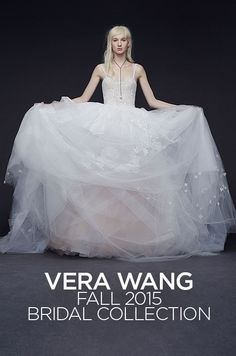 """Vera Wang just unveiled her Fall 2015 bridal collection, she says it """"sexy, sensuous, young, cool and beaded."""" Take a look."""