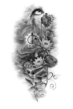 gallery custom tattoo designs tattoo tattoo design ideas - Tattoos And Body Art Tattoos Bein, Up Tattoos, Skull Tattoos, Rose Tattoos, Body Art Tattoos, Tattoos For Guys, Tatoos, Full Sleeve Tattoos, Sleeve Tattoos For Women