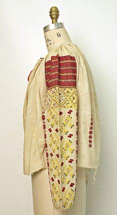Blouse Date: century Culture: Romanian Medium: cotton, silk Folk Costume, Costumes, Ethnic Outfits, Metropolitan Museum, Traditional Outfits, Cross Stitch Patterns, Folk Art, Kimono Top, Vogue