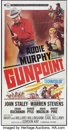 Movie Posters:Western, Gunpoint & Other Lot (Universal, Three Sheets Western. Western Film, Western Movies, We Movie, Film Movie, Comedy Movies, Old Movies, Vintage Movies, Best Movie Posters, Tv Westerns