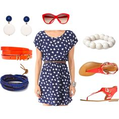 4th of July Outfit, created by jackieboyd on Polyvore