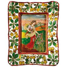 """Théophile Soyer after a Design by Eugène Grasset Spring""""   From a unique collection of antique and modern enamels at https://www.1stdibs.com/furniture/more-furniture-collectibles/enamels/"""
