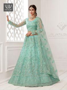 Rs11,100.00 Simple Lehenga Choli, Blue Lehenga, Bridal Lehenga Choli, Indian Lehenga, Umbrella Wedding, Party Wear Lehenga, Lehenga Choli Online, Saree Shopping, Indian Wedding Outfits