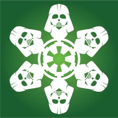 Darth Vader - Star Wars Snowflake HUGE COLLECTION for download of  Paper Snowflakes cutting PATTERNS