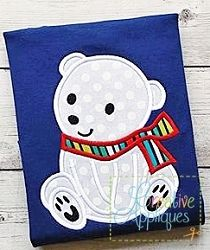 Polar Bear Applique - 4 Sizes! | What's New | Machine Embroidery Designs | SWAKembroidery.com Creative Appliques