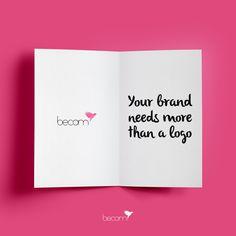 """""""Tu marca necesita algo más que un logo"""" necesita expresar correctamente su significado a través de piezas gráficas y comunicación. Busca una tipografía que te identifique, unos colores, símbolos, palabras... y pinta y repinta estos valores para llegar a transmitir el mensaje que deseas. Te aseguramos que muy pronto... Te identificarán y sabrán quién eres ;)"""