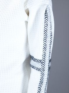 YVES SAINT LAURENT - Woven detail sweater 5