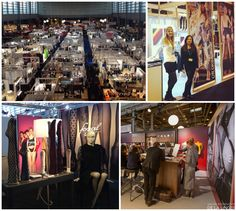 Stands of some hosiery brands at Salon International de la Lingerie - Fogal, Falke and Cecilia de Rafael amongst others