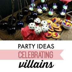 Party Ideas Celebrating Villains Party Ideas Celebrating Villains Disney's Descendants via Villains Party, Evil Villains, Disney Villains, Halloween Treats, Happy Halloween, Halloween Party, Halloween Stuff, How To Make Poison, Noni Fruit