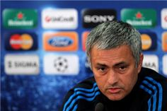 Real Madrid's Portuguese coach Jose Mourinho holds a press conference at GSP Stadium in Nicosia on March 26, 2012 on the eve of his team's UEFA Champions League first leg quarter-final football match against APOEL.