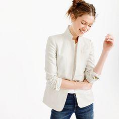 Beware it's not practical- spot cleaning ONLY, but nice inspiration! Regent blazer in metallic linen