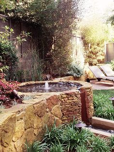 Add Water-Whether it's a little (fountain and koi ponds) or a lot (hot tubs and swimming pools), water is a pleasing outdoor design feature.
