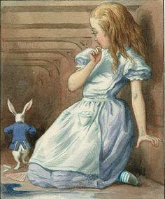 Alice and white rabbit Illustration: Sir John Tenniel/Alice's Adventures in Wonderland: Illustrations © Macmillan 1911 Alice In Wonderland Poster, Alice In Wonderland Illustrations, Adventures In Wonderland, Alice In Wonderland Pictures, Book Illustrations, Lewis Carroll, John Tenniel, Alice Day, Inspiration Artistique
