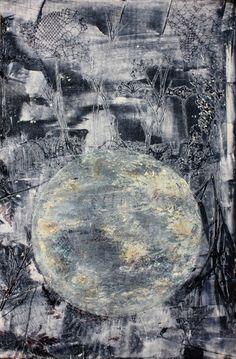 """Moon"" Monotype Moon, Abstract, Artwork, Painting, Printmaking, Art, The Moon, Summary, Work Of Art"